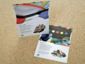CMYK litho printed postcards