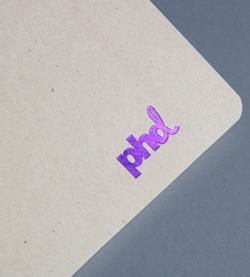 print finishing purple foil block