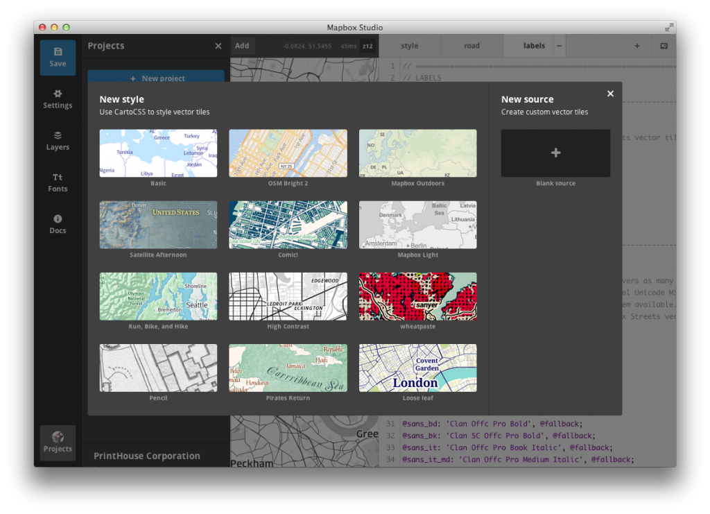 Mapbox Studio Styles