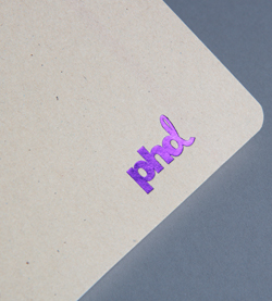 print finishing purple foil block