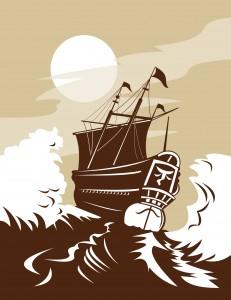 ship woodcut